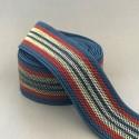 Elastique 5cm Rayures Blue, Rouille