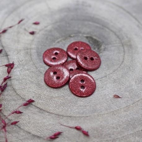 Glitter button Atelier Brunette - Amarante