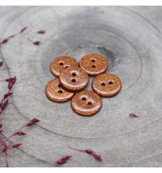 Glitzer knopf Atelier Brunette - Chestnut