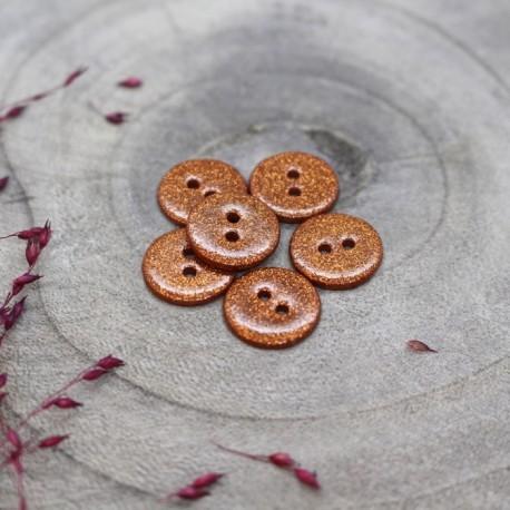 Bouton Glitter Atelier Brunette - Chestnut