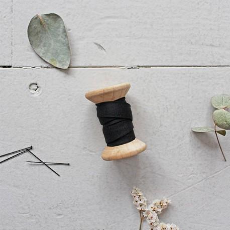 Schrägband Krepp Black - Atelier Brunette