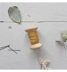 Biais Crêpe Mustard - Atelier Brunette