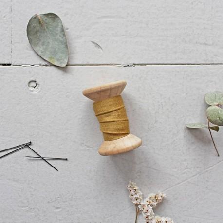 Schrägband Krepp Chesnut - Atelier Brunette