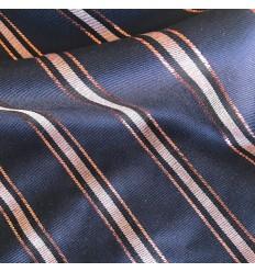 Viskose Twill - Blau, Kupferlurex