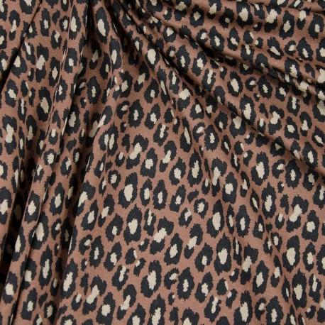 Leopard Jacquard Knit - Brown