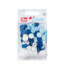 Color Snaps Prym - Bleu, Blanc