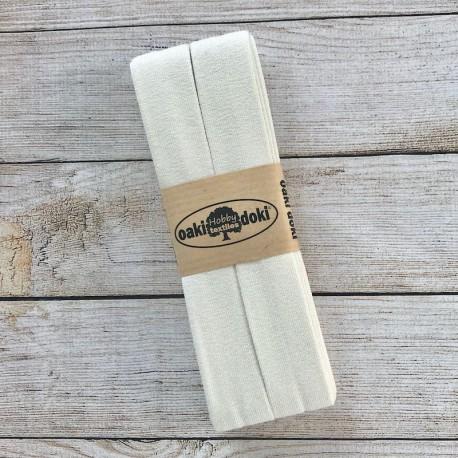 Jersey bias binding - Eggshell