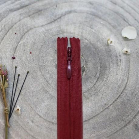 Zip Invisible Amarante - Atelier Brunette