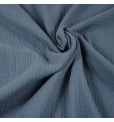 Double Gauze Musselin - blau
