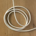 Elastic cord - white