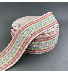 Ethnic elastic waistband 5cm - Beige