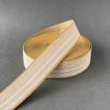 Elastic band - mustard, nude stripes