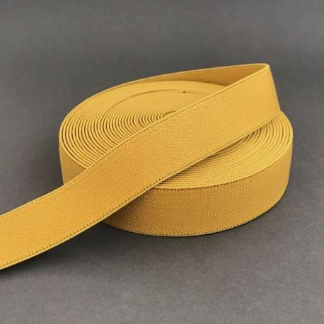 Elastique moutarde 2.5cm