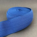 Herringbone elastic - cobalt