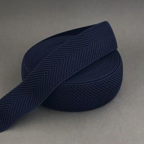 Herringbone elastic - Navy