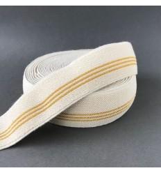 Elastic waistband - 3 golden lines