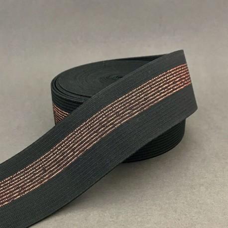 Ceinture élastique - Noir, cuivre