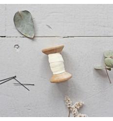 Schrägband Dobby Off White - Atelier Brunette