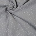 Double Gauze Musselin Dots - Grau