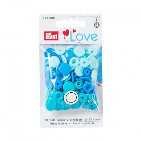 Color Snaps Prym - Bleu, Turquoise