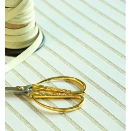 Lurex Stripe Knit - Ecru Gold