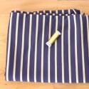 Lurex Stripe Knit - Navy Gold