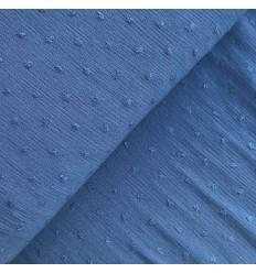 Swiss Dot Viscose - Cobalt