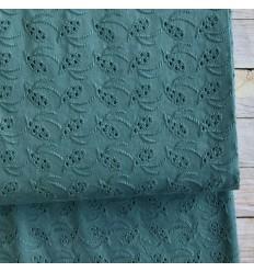 Cotton eyelet - eucalyptus green