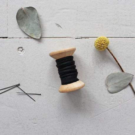 Passepoils Crêpe Black - Atelier Brunette