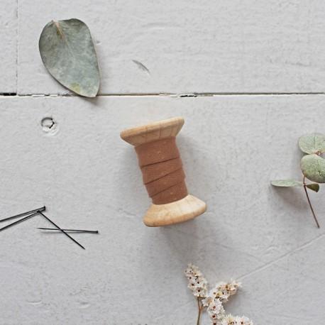 Biais Dobby Chestnut - Atelier Brunette