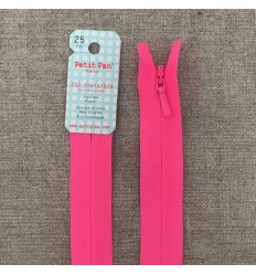 Invisible Zip Neon Pink - Petit Pan