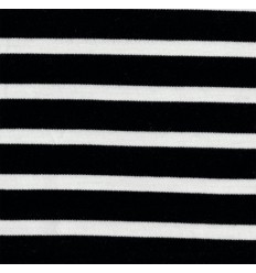 Jersey Interlock Noir, blanc - C. Pauli