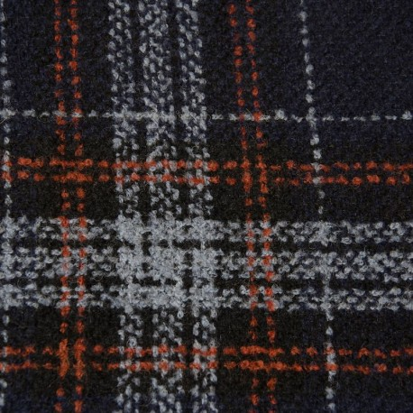 Wool blend, glencheck plaid