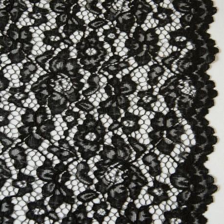 Tissu dentelle Noir