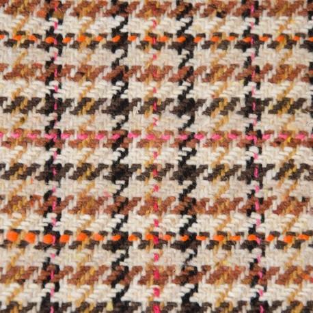Wool blend, glencheck beige