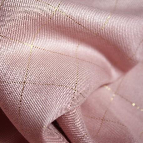 Viscose Pink, Gold Windowpane - Eglantine & Zoé