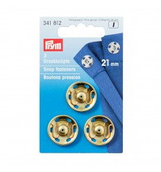 Snap fasteners gold- 21mm