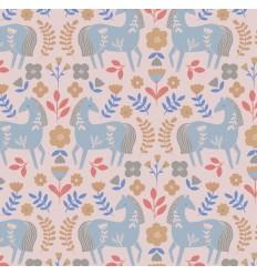 Poplin Horses - Katia Fabrics