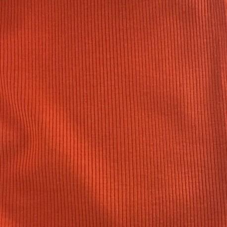 Ribbed jersey knit - Orange