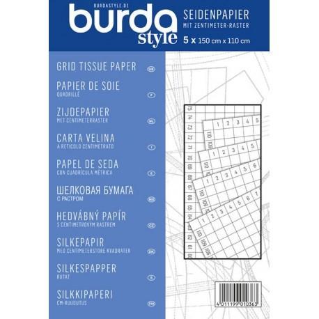 Papier de Soie Quadrillé - Burda