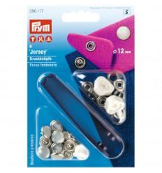 Non-sew press fastener Jersey, 12mm, pearl