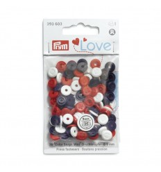 Press Fasteners Prym - Red, Navy