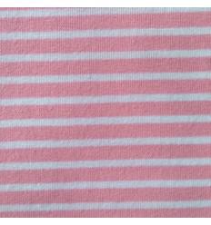 """Jersey """"Campan"""" - rayures rose/blanc"""