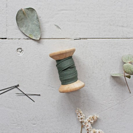 Biais Crêpe Cedar Green - Atelier Brunette