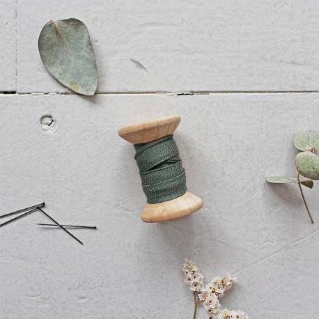 Schrägband Krepp Cedar Green - Atelier Brunette