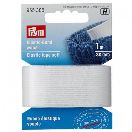 Elastic-Band, weich, 30mm, weiß