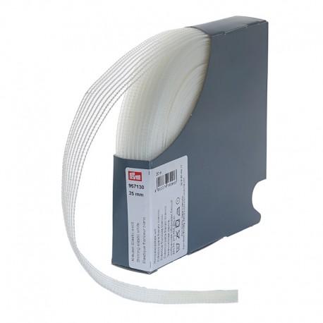 Ruban élastique fronçeur, 25mm, blanc