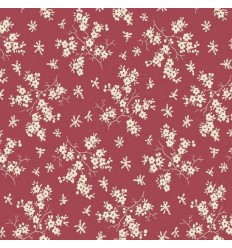 Small flowers cotton - Red