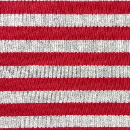 Sweat red / gray stripes