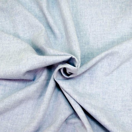 Chambray, bleached blue